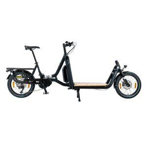 Vélo cargo Yuba Supercargo CL Noir Studio Sideview