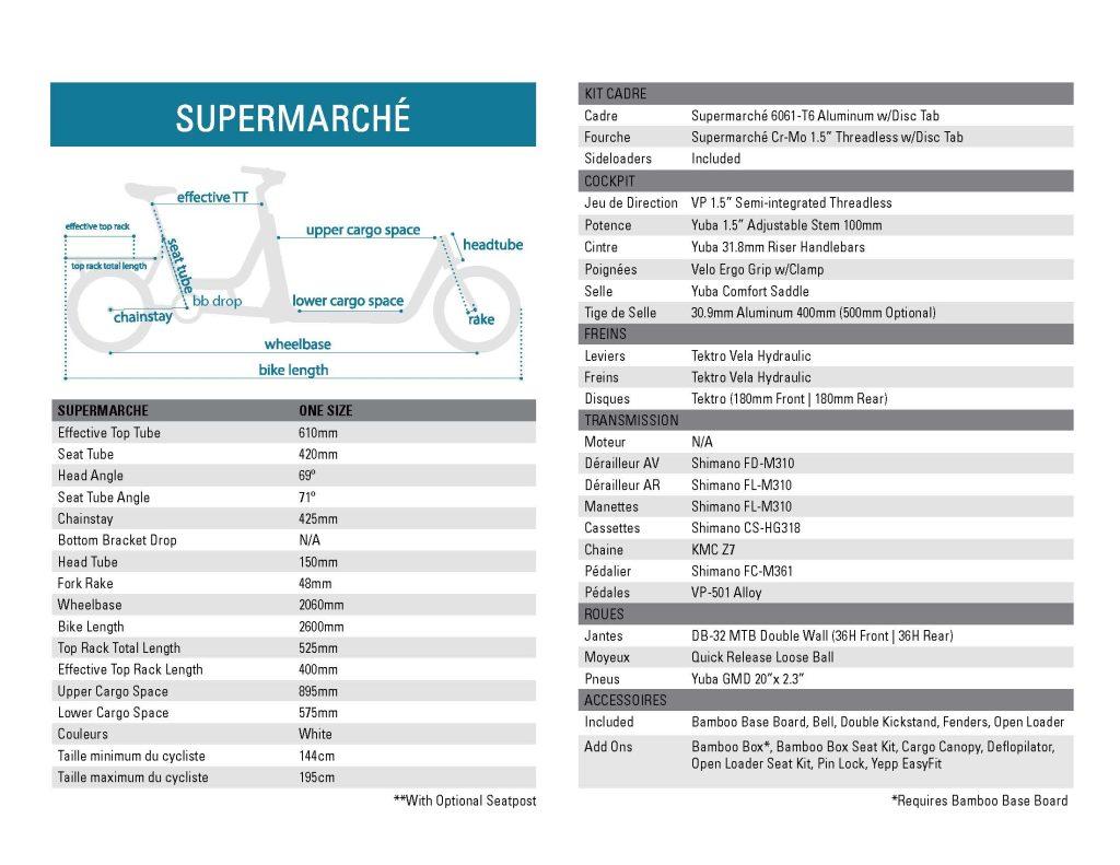 Supermarche Tech Specs 2020 FR